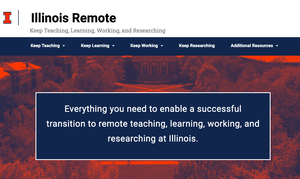 A picture of the Illinois Remote homepage.